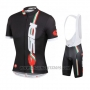 2014 Cycling Jersey Castelli SIDI Red and Black Short Sleeve and Bib Short