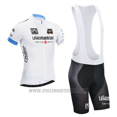2014 Cycling Jersey Giro D'italy White Short Sleeve and Bib Short