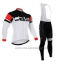 2015 Cycling Jersey Castelli Black and White Long Sleeve and Bib Tight