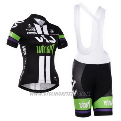 2015 Cycling Jersey Women Liv White and Black Short Sleeve and Bib Short
