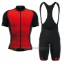 2016 Cycling Jersey ALE Red and Black Short Sleeve and Bib Short