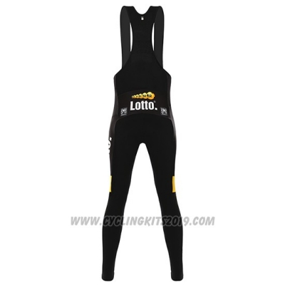 2016 Cycling Jersey Lotto NL Jumbo Yellow and Black4 Long Sleeve and Bib Tight