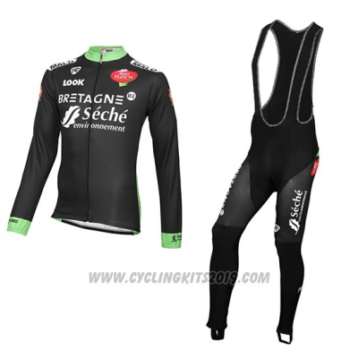 2016 Cycling Jersey Seche White Long Sleeve and Bib Tight
