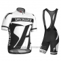 2016 Cycling Jersey Specialized White and Gray Short Sleeve and Bib Short