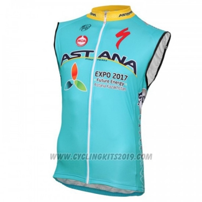 2016 Wind Vest Astana Blue and Yellow