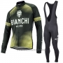 2017 Cycling Jersey Bianchi Milano Ml Black and Yellow Long Sleeve and Bib Tight