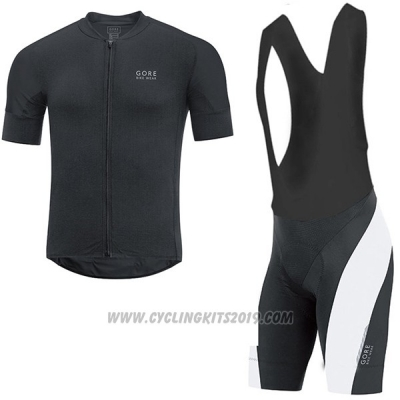 2017 Cycling Jersey Gore Bike Wear Power Oxygen-cc Black Short Sleeve and Bib Short
