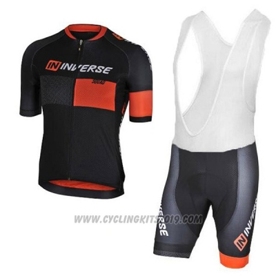 2017 Cycling Jersey Inverse Black Short Sleeve and Bib Short