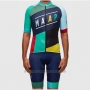 2017 Cycling Jersey Maap Blue and Sky Blue Short Sleeve and Bib Short