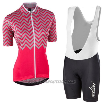 2017 Cycling Jersey Women Nalini Wave Red Short Sleeve and Bib Short