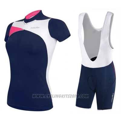 2017 Cycling Jersey Women RH+ Blue Short Sleeve and Bib Short