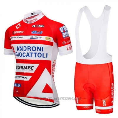 2018 Cycling Jersey Androni Giocattoli Orange and White Short Sleeve and Bib Short