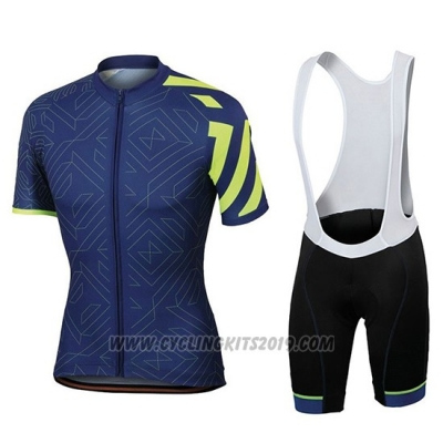 2018 Cycling Jersey Sportful Prism Dark Blue Short Sleeve and Bib Short
