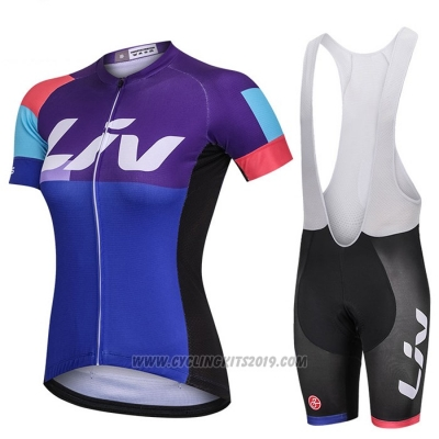 2018 Cycling Jersey Women Liv Fuchsia Short Sleeve and Bib Short