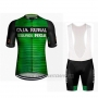 2019 Cycling Jersey Caja Rural Green Black Short Sleeve and Bib Short