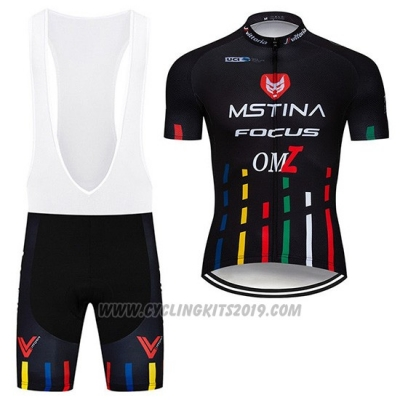 2019 Cycling Jersey MsTina Focus Black Short Sleeve and Bib Short