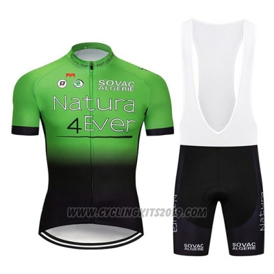 2019 Cycling Jersey Natura 4 Ever Green Black Short Sleeve and Bib Short