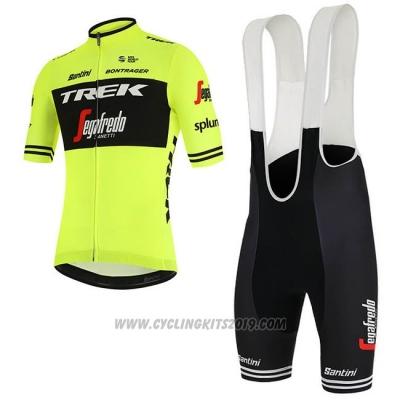 2019 Cycling Jersey Trek Segafredo Green Black Short Sleeve and Bib Short dd48749b2