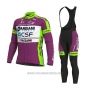 2020 Cycling Jersey Bardiani Csf Purple White Long Sleeve and Bib Tight