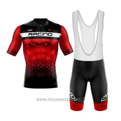 2020 Cycling Jersey EKOI Black Red Short Sleeve and Bib Short
