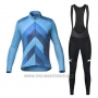 2020 Cycling Jersey Mavic Blue Long Sleeve and Bib Tight