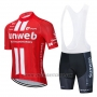 2020 Cycling Jersey Sunweb Red White Short Sleeve and Bib Short