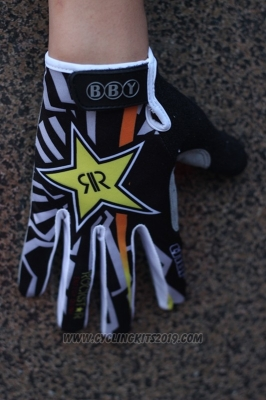 Rock Full Finger Gloves Cycling Black and Yellow
