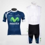 2012 Cycling Jersey Movistar Blue Short Sleeve and Bib Short