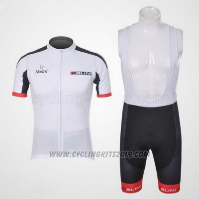2012 Cycling Jersey Nalini White and Black Short Sleeve and Salopette