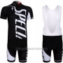 2012 Cycling Jersey Specialized White and Black Short Sleeve and Bib Short