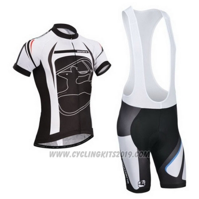 2014 Cycling Jersey Giordana Black Short Sleeve and Bib Short