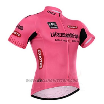 2015 Cycling Jersey Giro D'italy Pink Short Sleeve and Bib Short