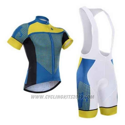 2015 Cycling Jersey Hincapie Blue and Yellow Short Sleeve and Bib Short
