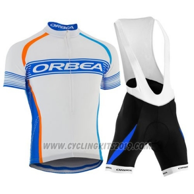 2015 Cycling Jersey Orbea Sky Blue and White Short Sleeve and Bib Short