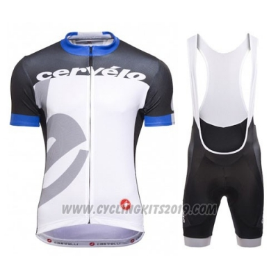 2016 Cycling Jersey Castelli Cervelo and White and Blue Short Sleeve and Bib Short