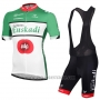 2016 Cycling Jersey Euskadi Black and Green Short Sleeve and Bib Short