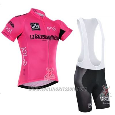 2016 Cycling Jersey Giro D'italy Pink and Black Short Sleeve and Bib Short