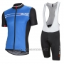 2016 Cycling Jersey Nalini Blue and Black Short Sleeve and Salopette