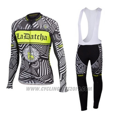 2016 Cycling Jersey Tinkoff Gray Long Sleeve and Bib Tight