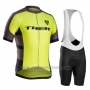 2016 Cycling Jersey Trek Bontrager Black and Yellow Short Sleeve and Bib Short