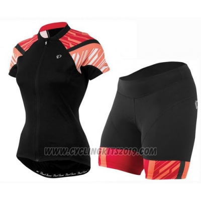 2016 Cycling Jersey Women Pearl Izumi Red and Black Short Sleeve and Bib Short