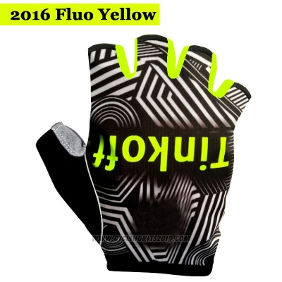 2016 Saxo Bank Tinkoff Gloves Cycling Black and Yellow