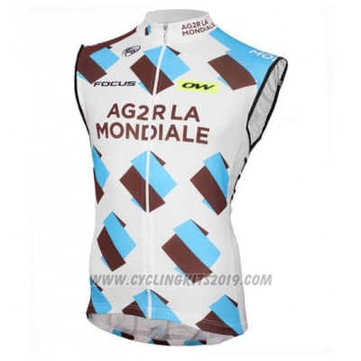 2016 Wind Vest Ag2rla White and Blue