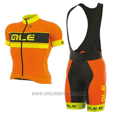 2017 Cycling Jersey ALE Graphics Prr Bermuda Orange and Yellow Short Sleeve and Bib Short