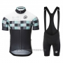 2017 Cycling Jersey Assos Black Short Sleeve and Bib Short