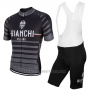 2017 Cycling Jersey Bianchi Milano Albatros Gray Short Sleeve and Bib Short