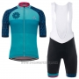 2017 Cycling Jersey Giro D'italy Sardegna Light Blue Short Sleeve and Bib Short