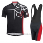 2017 Cycling Jersey Gore Bike Wear Power Adrenaline Black Short Sleeve and Bib Short