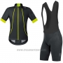 2017 Cycling Jersey Gore Bike Wear Power Oxygen-ws-so Black Short Sleeve and Bib Short