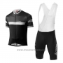 2017 Cycling Jersey Loffler Black and Gray Short Sleeve and Bib Short